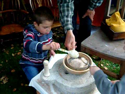 Grinding Flour with a Quern