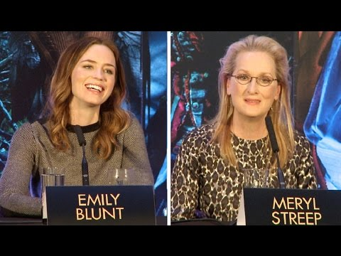 Into The Woods Press Conference - Meryl Streep, Emily Blunt, James Corden