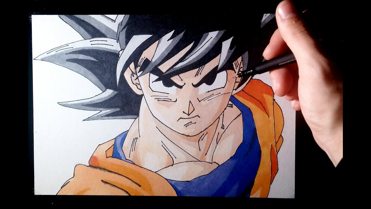 Dibujando a Goku Fase Normal  Dragon ball Z  Drawing Goku Normal