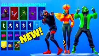 'NEW' LEAKED FORTNITE SKINS et EMOTES..! (Kpop, IKonik, Dragon, Boxer)