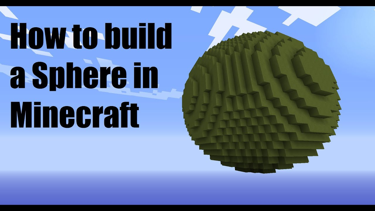 how to build a sphere in minecraft youtube minecraft sphere diagram a diagram in a minecraft [ 1280 x 720 Pixel ]