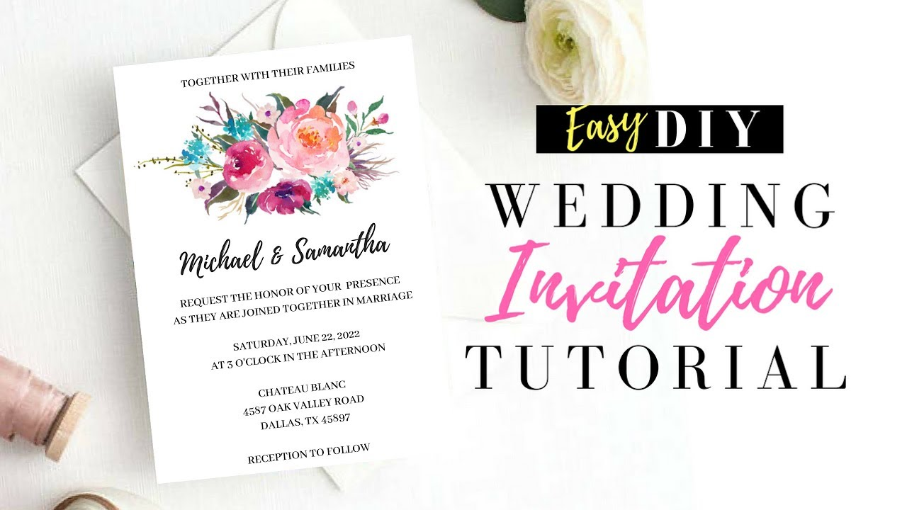 Wedding Invitations Make Your Own: DIY Wedding Invitations Using Pic Monkey! Make Your Own