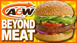 A&W 🍔 Beyond Meat Burger 🍔 100% Plant-Based Protein • Food Review