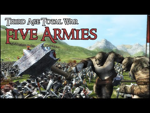 BATTLE OF THE FIVE ARMIES - Third Age Total War Gameplay