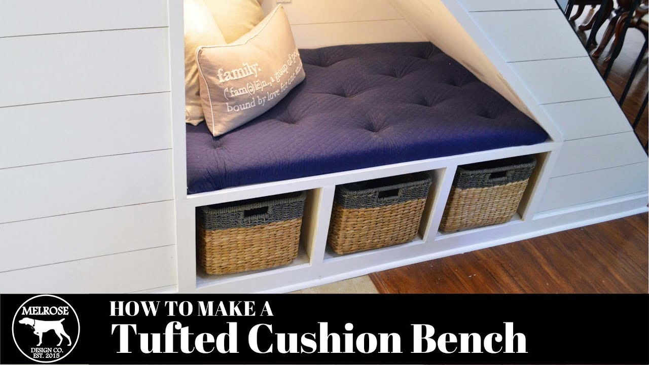 How To Make A Tufted Bench Cushion No Sewing