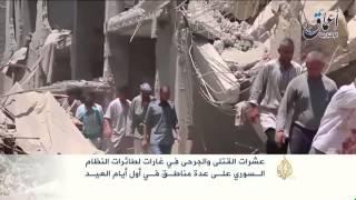 غارات متواصلة بأول أيام العيد وأعنفها على إدلب