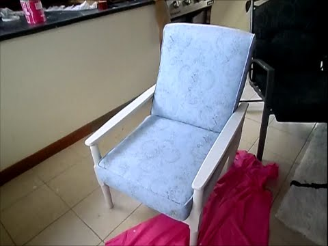 DIY CHALK PAINT FABRIC CHAIR TUTORIAL