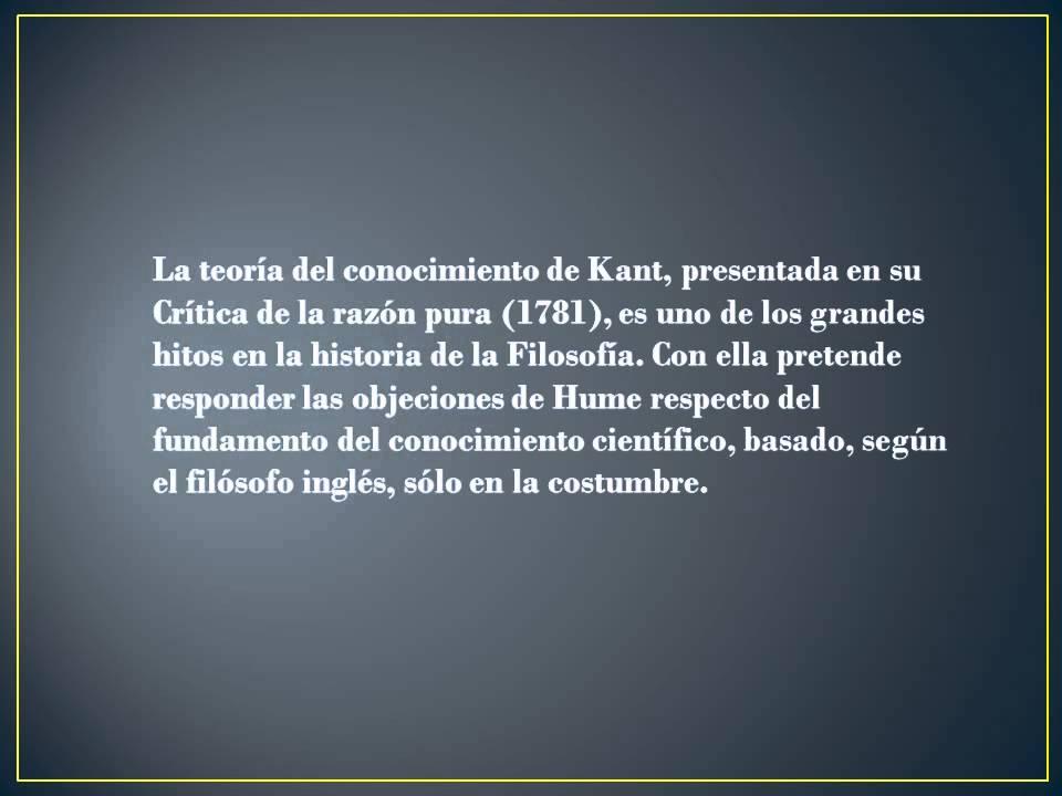 a5ef80d32b72 Immanuel kant Teoria del conocimiento, racionalismo, empirismo - YouTube