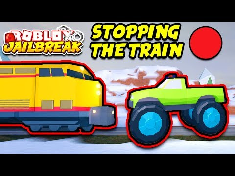 Roblox Jailbreak STOPPING THE TRAIN LIVE! Monster Trucks and Volt Bikes! | ❄️ New Winter Update