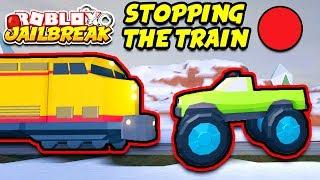 Jailbreak Roblox parando o trem ao vivo! Monster Trucks e motos Volt! | ❄️ nova atualização de inverno