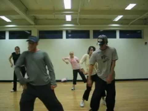 Tari Mannello Teaching Hip-Hop Choreography to Gold Digger 2003 24 hour fitness