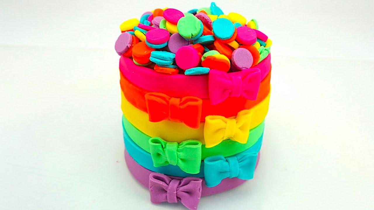 Пластилин для детей учимся лепить торт - YouTube