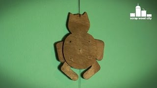 Make A Moving Cat Toy On The Scroll Saw