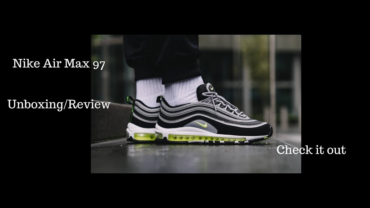 Nike Air Max 97 OG Black Volt Review Unboxing - YouTube 6c85ef2e5