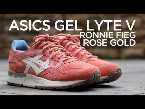 "Closer Look: Ronnie Fieg X Asics Gel Lyte V - ""Rose Gold"""