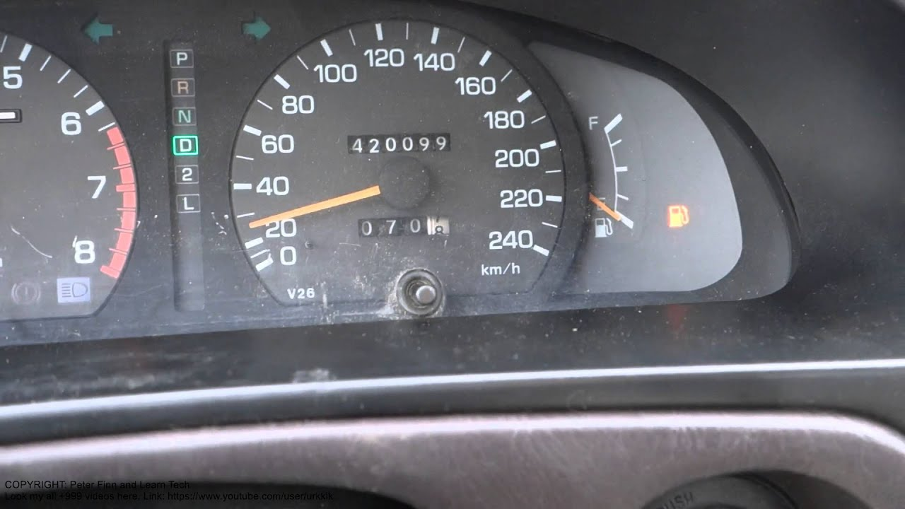 Fuel Tank Warning Light Is On How Long I Can Drive Toyota Camry Years 1990 To 2010