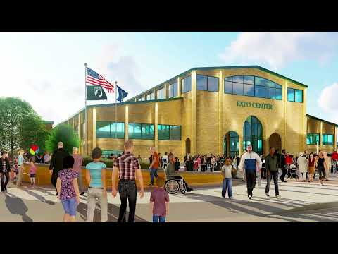 Construction of new fairgrounds expo center progressing on time (video)