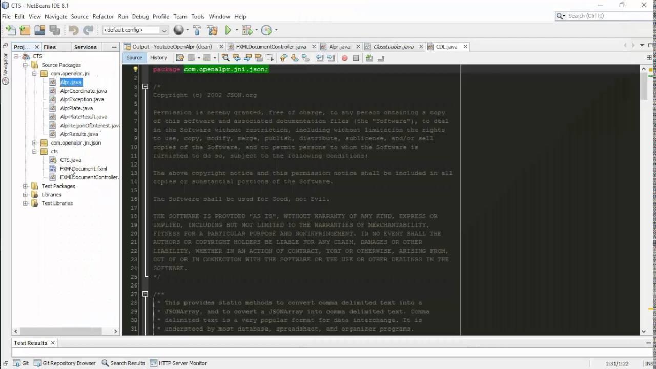 Integrating openAlpr in java using netbeans