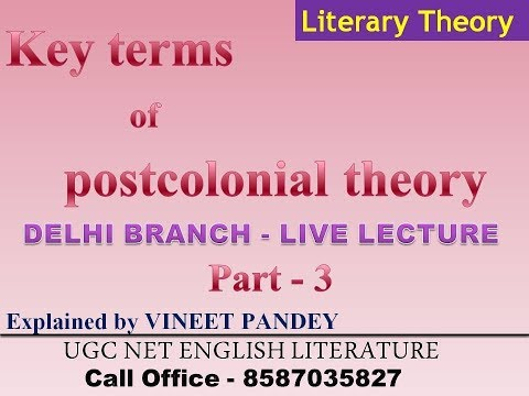 best lecture on postcolonial theory by vineet pandey sir