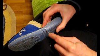 Как прошить тапочки(Прошивка домашних тапочек капроновой нитью. С домашними тапочками часто случается такой казус, как то,..., 2014-11-29T23:21:05.000Z)