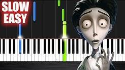Victor's Piano Solo (Corpse Bride) - SLOW EASY Piano Tutorial by PlutaX