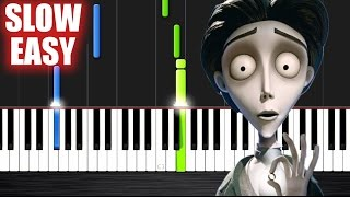 Victor's Piano Solo (Corpse Bride) - SLOW EASY Piano Tutorial by PlutaX