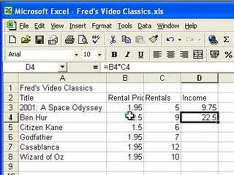 microsoft excel tutorial for beginners 3 calculations formulas