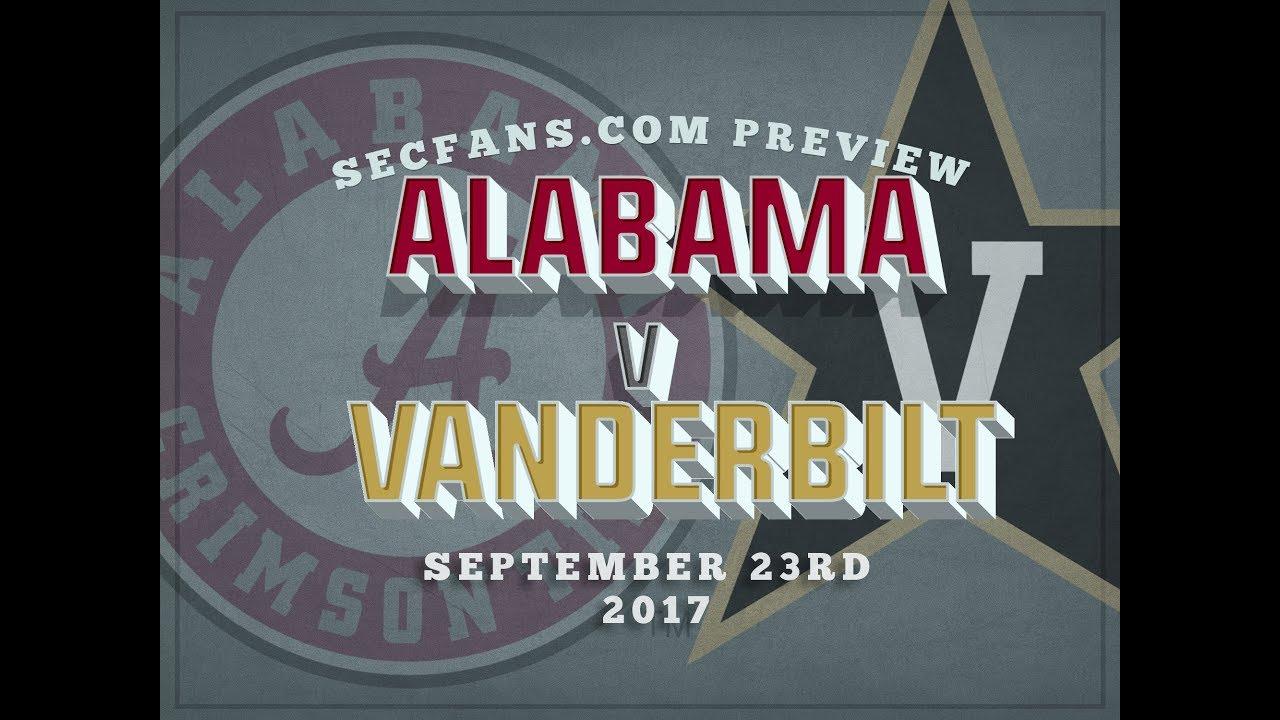 alabama vs vanderbilt preview predictions college football 2017