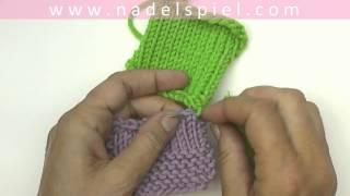 Repeat youtube video Stricken lernen mit eliZZZa #12 * Strickteile mit Quernaht zusammennähen * Maschenstich