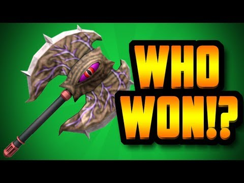 WHO WON THE FREE CORRUPTED AXE!? (ROBLOX ASSASSIN)