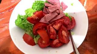 Салат пекинская капуста с колбасой очень вкусно