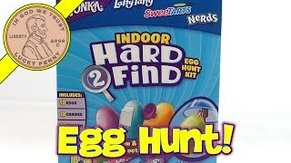 Wonka Indoor Hard 2 Find Egg Hunt Kit - Laffy Taffy, Sweetarts, Nerds Candy!