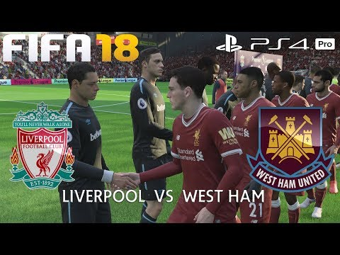 FIFA 18 (PS4 Pro) Liverpool v West Ham United | PREMIER LEAGUE PREDICTION | 24/2/2018 | 1080P 60FPS