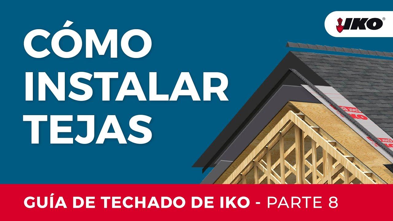 Iko gu a de instalaci n parte 8 aplicaci n de las tejas for Tela asfaltica para tejados de madera