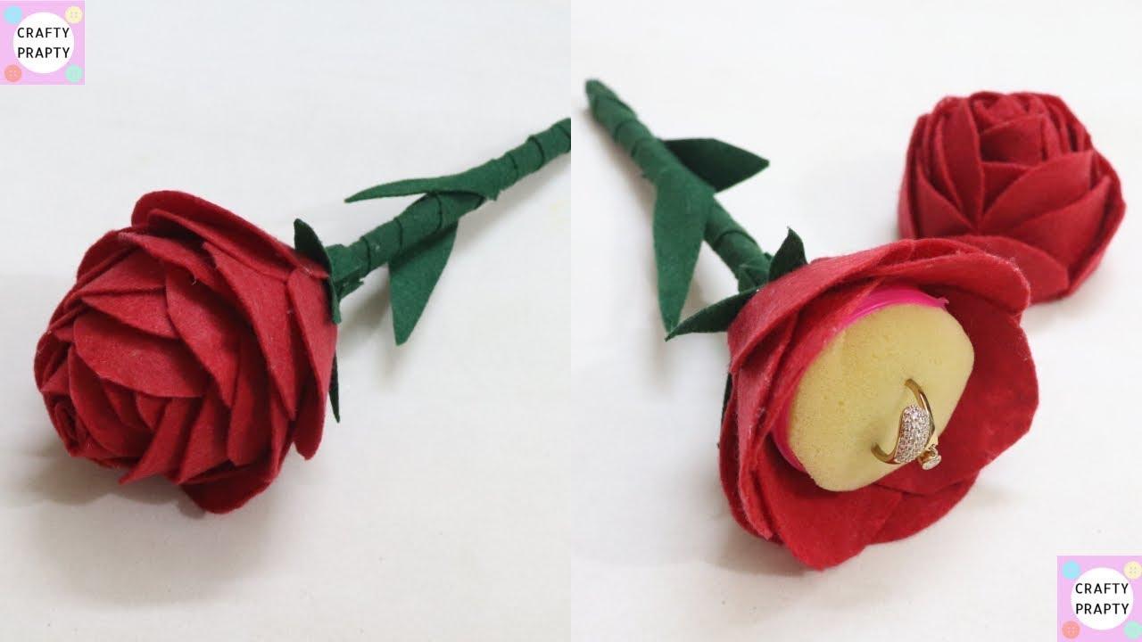 Diy Flower Ring Box Valentine S Day Gift Idea Rose Day Gift Propose Day Gift Idea Diy Ring Box Youtube