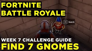 Search the hidden Gnome in different named locations - Fortnite Battle Royale Week 7 Challenge Guide