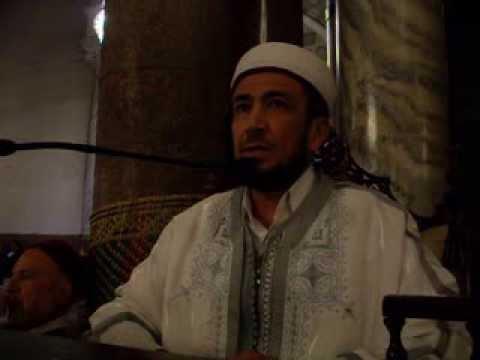 الشيخ رضا الجوادي يلقي كلمة في جامع عقبة بن نافع بالقيروان