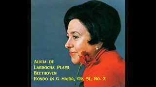 Alicia de Larrocha plays Beethoven - Rondo, Op.51, No.2 [live,1972]