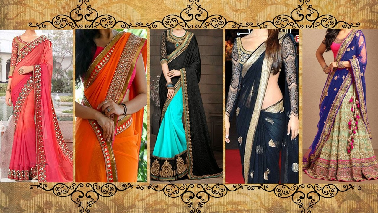 2019 year looks- How to saree wear with narrow pallu