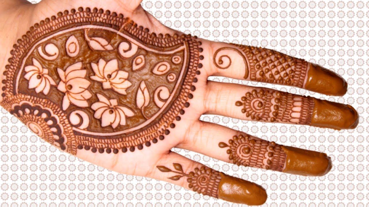 Mehndi Design Lotus Pond Mehndi for Hands