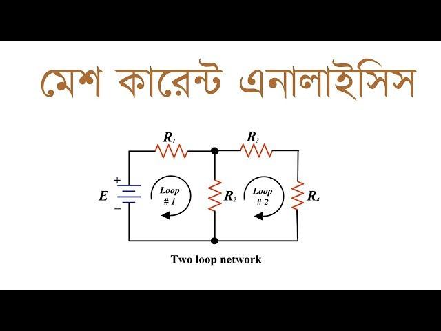 Mesh Current Analysist in Bangla | মেশ কারেন্ট এনালাইসিস | Voltage Lab
