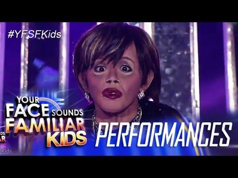 Your Face Sounds Familiar Kids: Awra Briguela as Elizabeth Ramsey- Waray Waray