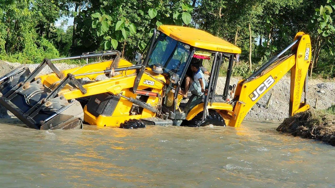 JCB Amazing Work on Sandy River - JCB Dozer Making Dam in River - JCB Video