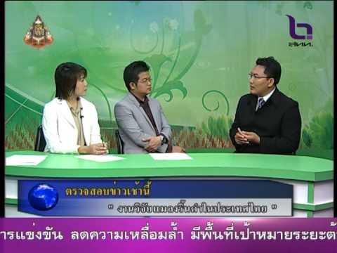 NBT สัมภาษณ์สด มมส วิจัยแมลงริ้นดำในประเทศไทย