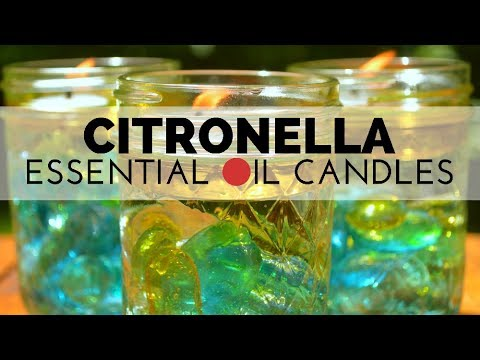 How to Make Easy Mason Jar Citronella Candles