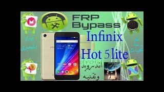 كيفية فك حماية frp infinix hot 6 x606d