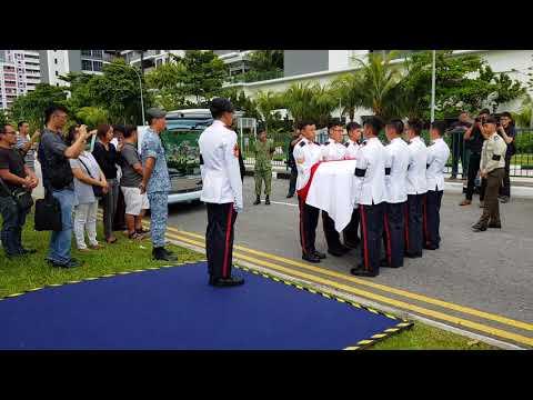 Military funeral of 3SG Gavin Chan Hiang Cheng