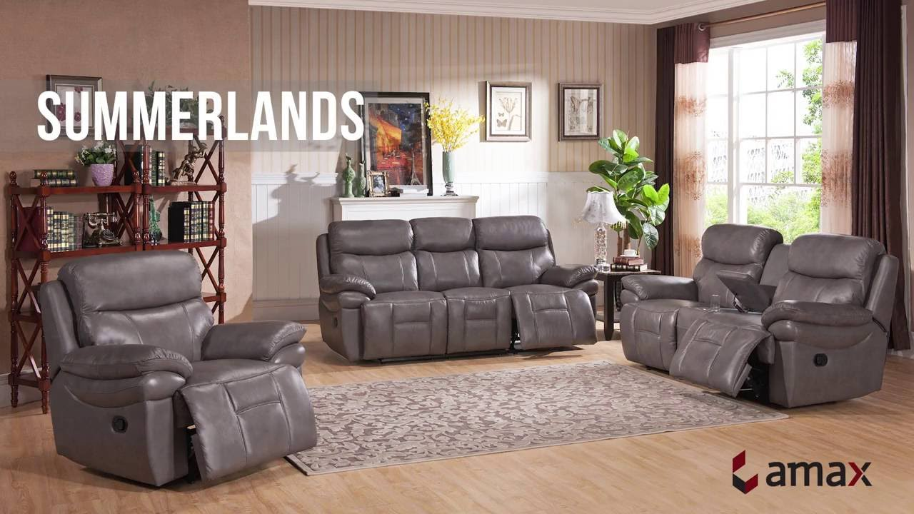 Barlow White Leather Sofa And Loveseat Set Summerlands From Amax Leather