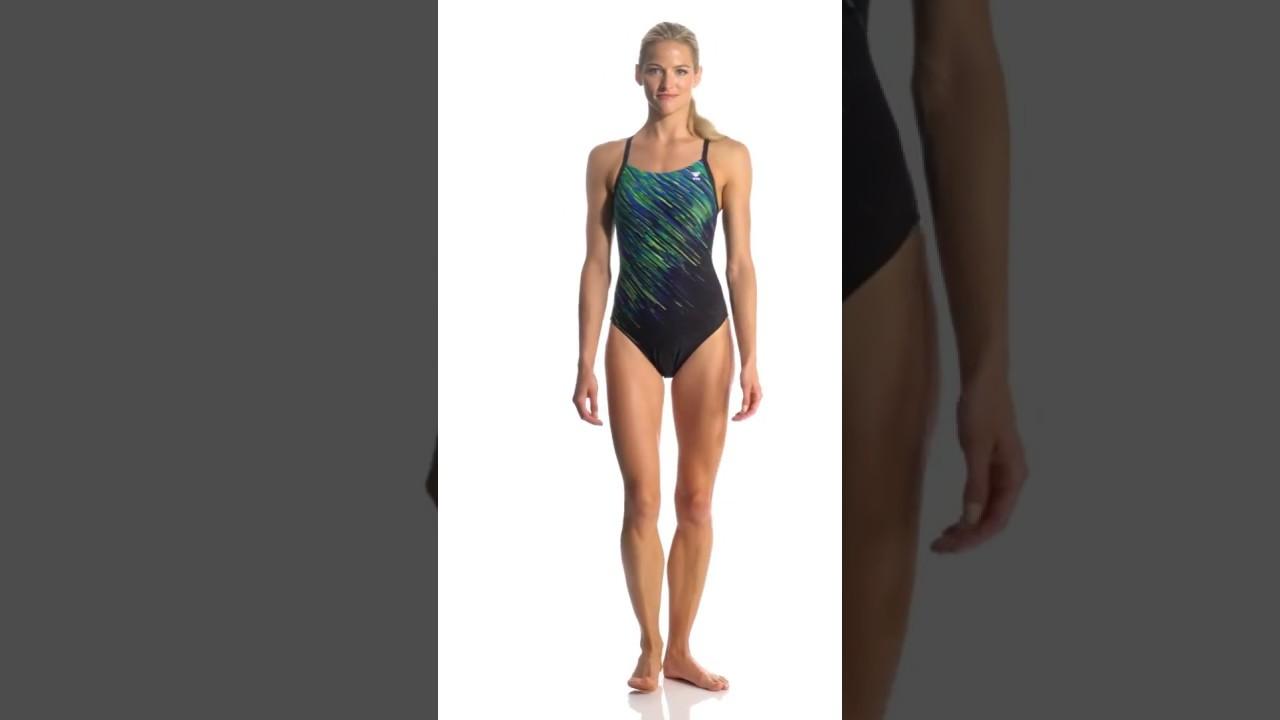 1edd794ef3 TYR Women's Andromeda Diamondfit One Piece Swimsuit | SwimOutlet.com -  YouTube