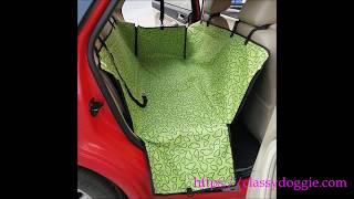Classy Doggie   Classy Waterproof Dog Paw Print Pattern Backseat Cover NO MUSIC